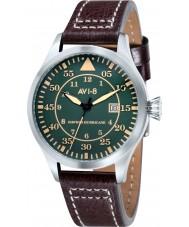 AVI-8 AV-4012-03 Mens Hawker Hurricane Brown Leather Strap Watch