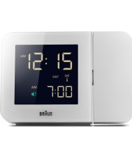 Braun BNC015WH-RC White Digital Clock