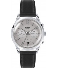 Henry London HL39-CS-0077 Piccadilly Grey Crosshatch Black Chronograph Watch