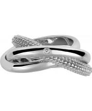 Hot Diamonds DR084-O Ladies Ula Silver Trilogy Ring - Size O