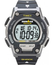 Timex T5K195 Mens Grey Ironman Shock Resist 30 Lap Sport Watch