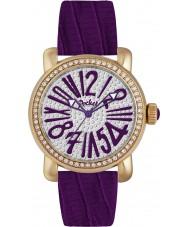 Pocket PK2035 Ladies Rond Pave Medio Purple Watch