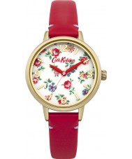 Cath Kidston CKL006RG Ladies Linen Sprig Red Leather Strap Watch