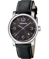 Wenger 01-1041-127 Mens Urban Metropolitan Black Leather Strap Watch