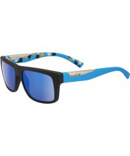 Bolle Clint Matte Black Blue Polarized GB-10 Sunglasses