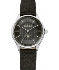 Barbour BB021SLBK Mens Glysdale Black Fabric Strap Watch