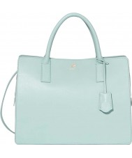 Modalu MH5093-AQUA Ladies Jasmine Aquamarine Triple Compartment Grab Bag