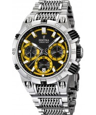 Festina F16774-7 Mens 2014 Chrono Bike Tour De France Yellow Silver Watch