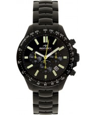 Rotary AGB00085-C-04 Mens Aquaspeed Black Chronograph Watch