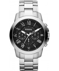 Fossil FS4736 Mens Grant Silver Steel Chronograph Watch
