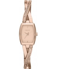 DKNY NY2238 Ladies Crosswalk Rose Gold Stone Set Bangle Watch