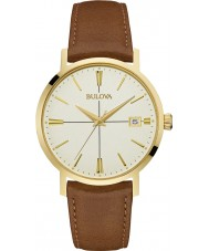 Bulova 97B151 Mens Aerojet Brown Leather Strap Watch