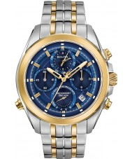 Bulova 98B276 Mens Precisionist Two Tone Gold Bracelet Chronograph Watch