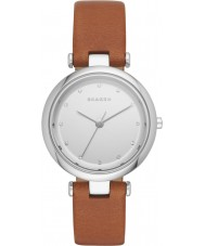 Skagen SKW2458 Ladies Tanja Dark Brown Leather Strap Watch