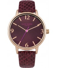 Daisy Dixon DD030VRG Ladies Amelia Melanzana PU Leather Strap Watch