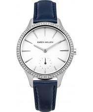 Karen Millen KM112UA Ladies Blue Leather Strap Watch