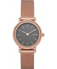 Skagen SKW2470 Ladies Hald Rose Gold Plated Mesh Bracelet Watch