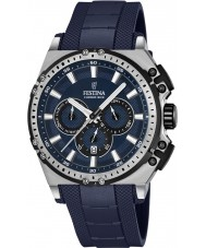 Festina F16970-2 Mens Chrono Bike Blue Rubber Chronograph Watch