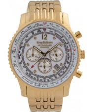Krug Baümen 600101DS Mens Air Traveller Diamond Watch