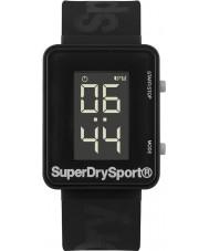 Superdry SYG204B Mens Sprint Digi Black Silicone Strap Watch