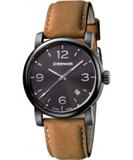 Wenger 01-1041-129 Mens Urban Metropolitan Brown Leather Strap Watch