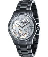 Thomas Earnshaw ES-8049-44 Mens Bauer Black Steel Mechanical Skeleton Watch