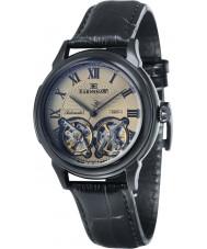 Thomas Earnshaw ES-8030-06 Mens Observatory Black Crock Leather Strap Watch