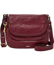 Fossil ZB6920609 Ladies Peyton Wine Tone Double Flap Bag