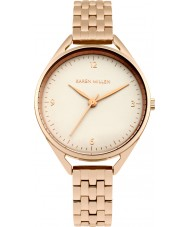 Karen Millen KM130ERGM Ladies Rose Gold Plated Bracelet Watch
