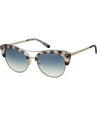 Polaroid Ladies PLD4045-S MSS Z7 Black Havana Gold Copper Polarized Sunglasses
