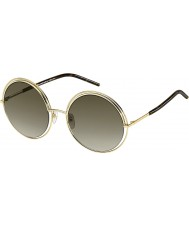 Marc Jacobs Ladies MARC 11-S APQ HA Gold Dark Havana Sunglasses