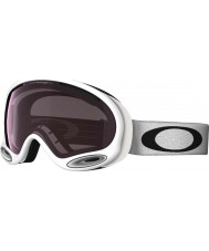 Oakley 59-747 A-Frame 2.0 Polished White - Prizm Rose Ski Goggles