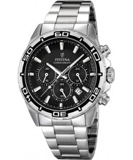 Festina F16766-4 Mens Silver Steel Bracelet Chronograph Watch