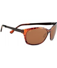 Serengeti Sara Shiny Dark Tortoiseshell Polarized PhD Drivers Sunglasses