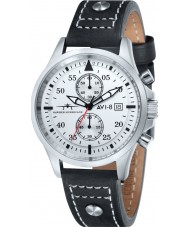 AVI-8 AV-4013-01 Mens Hawker Hurricane Black Leather Strap Chronograph Watch