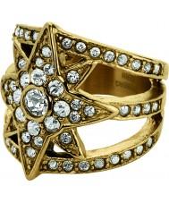 Dyrberg Kern 336285 Ladies Staray III Gold Crystal Ring
