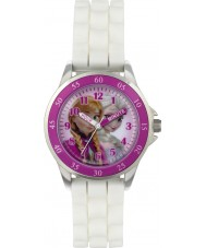 Disney FZN3550 Girls Anna and Elsa Time Teacher Watch with White Silicone Strap