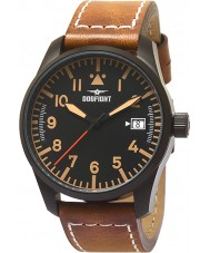 Dogfight DF0056 Mens Wingman Light Brown Strap Watch