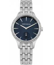 Karen Millen KM112USMA Ladies Silver Steel Bracelet Watch
