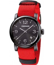 Wenger 01-1041-132 Mens Urban Metropolitan Red Nylon Strap Watch