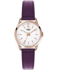 Henry London HL25-S-0072 Ladies Hampstead Purple Leather Strap Watch