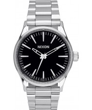 Nixon A450-000 Mens Sentry 38 SS Black Tapered Strap Watch