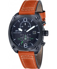 AVI-8 AV-4037-02 Mens Hawker Harrier II Orange Leather Strap Chronograph Watch