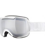 Uvex 5501091826 Downhill 2000 White - Silver Mirror Ski Goggles