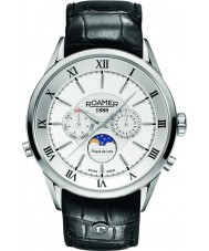 Roamer 508821-41-13-05 Mens Superior Moonphase Black Leather Strap Watch
