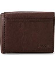 Fossil ML3255200 Mens Ingram Brown Execefold Wallet