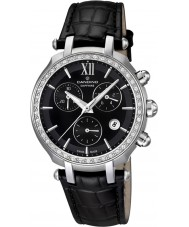 Candino C4522-2 Ladies Chronograph All Black Leather Strap Watch