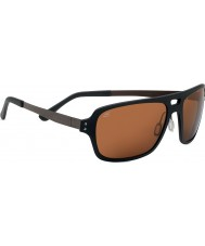 Serengeti Nunzio Satin Black Polarized PhD Drivers Sunglasses
