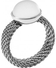 Skagen SKJ0116S8 Ladies Silver Pearl Ring - Size Q