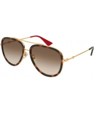 Gucci Ladies GG0062S 012 57 Sunglasses